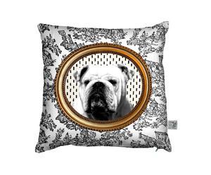 Housse de Coussin Bulldog, Blanc - 50*50