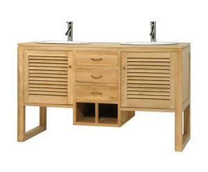 MEUBLE de salle de bain, frêne - L140