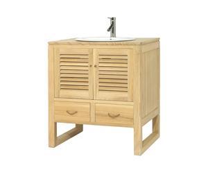 MEUBLE salle de bain, frêne - L78