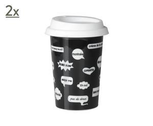 2 Mugs Conversations, porcelaine - H14