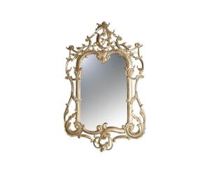 Miroir Baroque acajou, Doré - H118