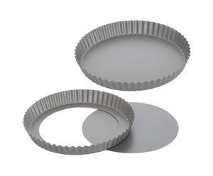 2 Moules à tartes, acier laminé