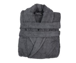 Peignoir col chale, gris – M
