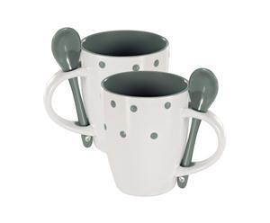 2 Mugs Céramique, Gris - H10