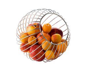 Porte-fruits boule Acier chromé, Argenté - H23