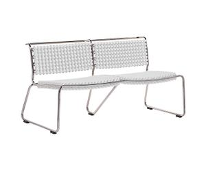 Banc inox, blanc - 2 Places