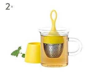 2 Boules à thé AMI, Jaune - Ø4
