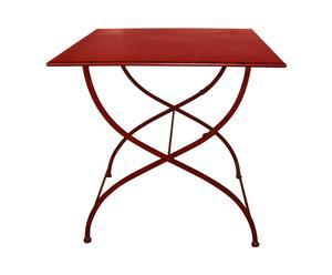 Table Métal, Rouge - H90