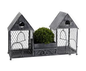 2 Cages Fer, Gris - L22
