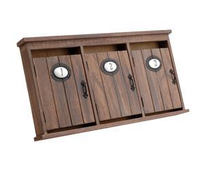 Boîte à clefs Sapin et métal, Naturel - L25