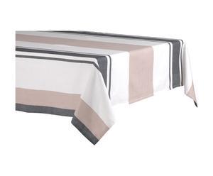 Nappe Coton, Blanc beige et gris - 150*250