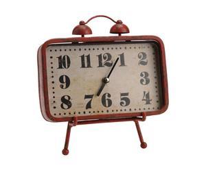 Horloge à poser Fer, Rouge et blanc  - L21
