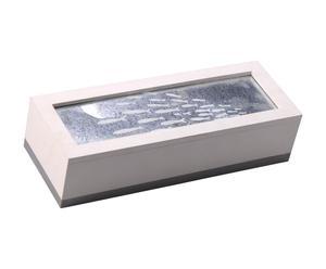 Boîte Zinc, Blanc et gris - L33