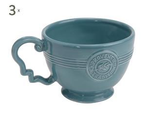 3 Tasse à Thé Dolomie, Bleu - L14