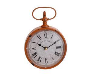 Horloge Métal, Blanc et orange - L16