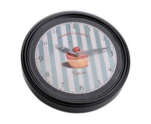 Horloge  Métal, Noir et bleu – Ø30
