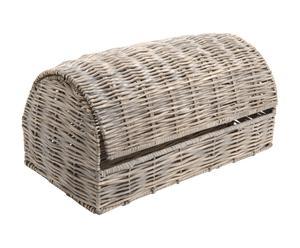 Huche à pain Osier et métal, Naturel - L45