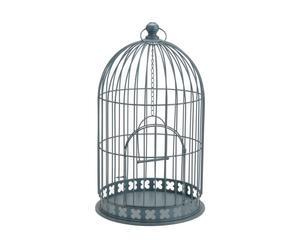 Cage décorative Métal, Gris - H51