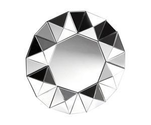Miroir, Noir - Ø78