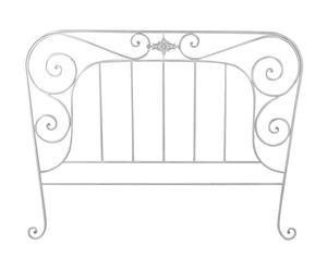 Tête de lit Métal, Gris - Queen size