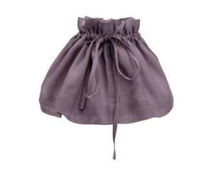 Cache abat-jour Coton et lin, Violet - L57