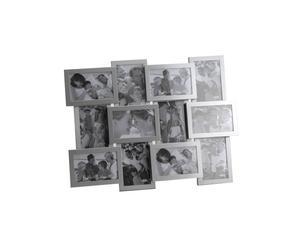 Cadre-photo Aluminium brossé et verre, Argenté - 53*44