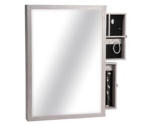 Miroir et Boîte à bijoux, Blanc - H70