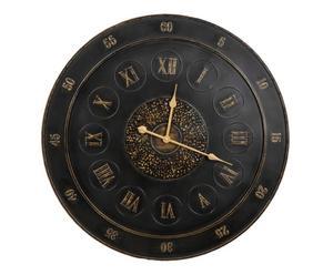 Horloge Métal, Noir et doré - Ø80