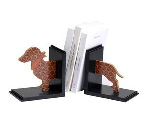2 Serre-livres, Noir et marron - L30