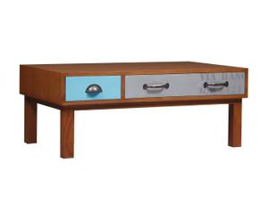 Table basse New Vintage acajou, Multicolore - L100