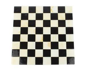 Damier pour jeu d'échec Pate de verre, Noir et blanc - L38
