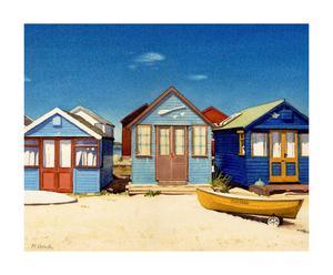 Toile Three Beach huts - 40*50