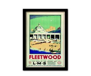 Poster encadré FLEETWOOD II, Verre et MDF - 33*45