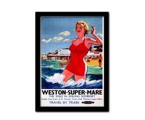 Poster encadré WESTON SUPER MARE II, Verre et MDF - 33*45