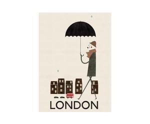 Poster encadré Londres, Papier et bois - 60*80