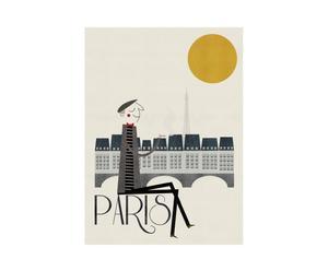 Poster encadré Paris, Papier et bois - 60*80