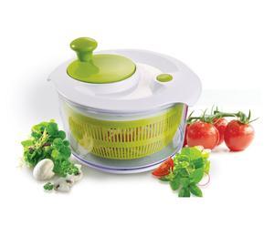 Essoreuse a salade Plastique, Vert et blanc - Ø26