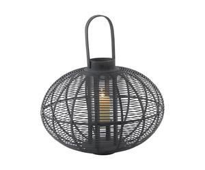 Lanterne Bambou, Noir - Ø60