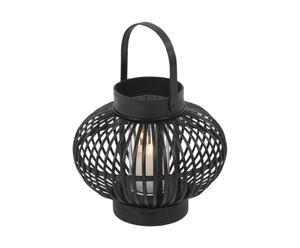 Lanterne Rotin, Noir - Ø13
