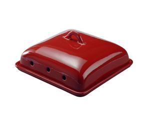 Cloche à fromage Faïence, Rouge - L30