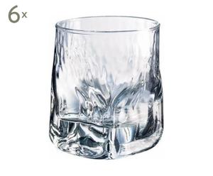 6 Verrines Verre, Transparent - H7