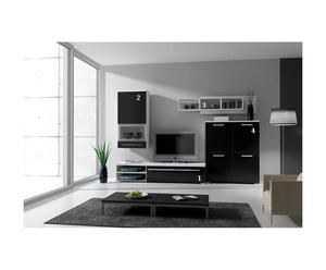 Ensemble living design I, Blanc et noir