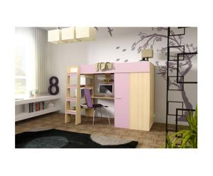Ensemble living design I, Naturel et rose
