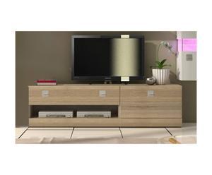 2 meubles TV Bois, Naturel - L150
