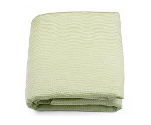 Couvre-lit Satin de soie, Vert d'eau - 240*260