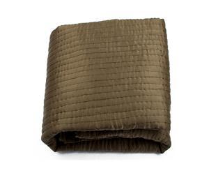 Couvre-lit Satin et coton, Bronze - 260*260