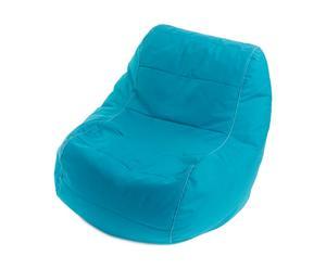 Pouf SKY Polyester et PVC, Bleu turquoise - L108