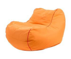 Pouf SKY Polyester et PVC, Orange - L108
