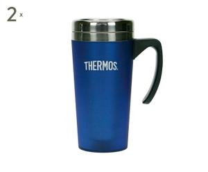 2 Thermos Inox, Bleu - Ø8