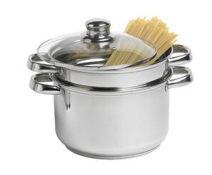 1 Casserole à spaghetti SENA Aluminium, Argenté - H25